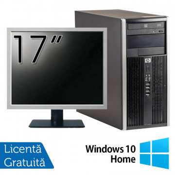 Calculator HP 6200 Tower, Intel Pentium G645 2.90GHz, 4GB DDR3, 250GB SATA, DVD-ROM + Monitor 17 Inch + Windows 10 Home (Top Sale!), Refurbished Calculatoare Refurbished