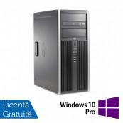 Calculator Refurbished HP 6200 Tower, Intel Pentium Dual Core G640 2.80GHz, 8GB DDR3, 500GB SATA, DVD-ROM + Windows 10 Pro Calculatoare Refurbished