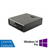 Calculator HP 6200 Pro Desktop, Intel Core i3-2100 3.10 GHz, 4GB DDR3, 250GB SATA, DVD-ROM + Windows 10 Pro, Refurbished Calculatoare Refurbished