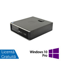 Calculator HP 6200 Pro Desktop, Intel Core i3-2100 3.10 GHz, 4GB DDR3, 250GB SATA, DVD-ROM + Windows 10 Pro