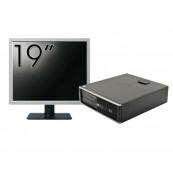 Pachet Calculator HP 6300 SFF, Intel Core i3-2120 3.30GHz, 4GB DDR3, 250GB SATA, 1 Port Serial + Monitor 19 Inch, Second Hand Calculatoare Second Hand