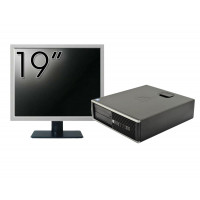 Pachet Calculator HP 6300 SFF, Intel Core i3-2120 3.30GHz, 4GB DDR3, 250GB SATA, 1 Port Serial + Monitor 19 Inch