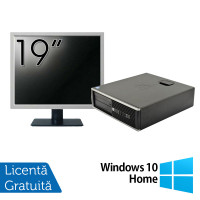 Pachet Calculator HP 6300 SFF, Intel Core i3-2120 3.30GHz, 4GB DDR3, 250GB SATA, 1 Port Serial + Monitor 19 Inch + Windows 10 Home