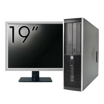 Pachet Calculator HP 6300 SFF, Intel Core i5-2400 3.10GHz, 4GB DDR3, 250GB SATA, 1 Port Com + Monitor 19 Inch, Second Hand Calculatoare Second Hand