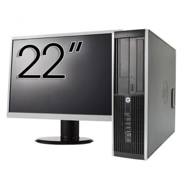 Pachet Calculator HP 6300 SFF, Intel Core i5-2400 3.10GHz, 4GB DDR3, 250GB SATA, 1 Port Com + Monitor 22 Inch, Second Hand Calculatoare Second Hand