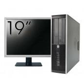 Pachet Calculator HP 6300 SFF, Intel Pentium G2020 2.90GHz, 4GB DDR3, 500GB SATA, DVD-RW + Monitor 19 Inch, Second Hand Oferte Pachete IT