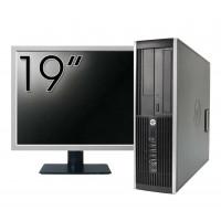 Pachet Calculator HP 6300 SFF, Intel Pentium G2020 2.90GHz, 4GB DDR3, 500GB SATA, DVD-RW + Monitor 19 Inch
