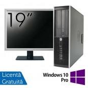 Pachet Calculator HP 6300 SFF, Intel Pentium G2020 2.90GHz, 4GB DDR3, 500GB SATA, DVD-RW + Monitor 19 Inch + Windows 10 Pro, Refurbished Oferte Pachete IT