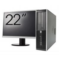 Pachet Calculator HP 6300 SFF, Intel Pentium G2020 2.90GHz, 4GB DDR3, 500GB SATA, DVD-RW + Monitor 22 Inch