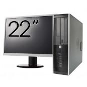Pachet Calculator HP 6300 SFF, Intel Core i3-3220 3.30GHz, 4GB DDR3, 500GB SATA, DVD-RW + Monitor 22 Inch, Second Hand Oferte Pachete IT