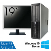 Pachet Calculator HP 8200 SFF, Intel Pentium G850 2.90GHz, 4GB DDR3, 250GB SATA, DVD-RW + Monitor 19 Inch + Windows 10 Home, Refurbished Oferte Pachete IT