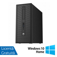 Calculator HP EliteDesk 800 G1 Tower, Intel Core i3-4130 3.40GHz, 8GB DDR3, 500GB SATA, DVD-RW + Windows 10 Home