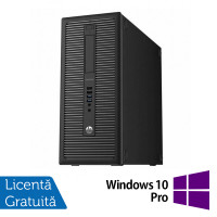 Calculator HP EliteDesk 800 G1 Tower, Intel Core i3-4130 3.40GHz, 8GB DDR3, 500GB SATA, DVD-RW + Windows 10 Pro