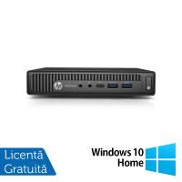 Calculator HP Elitedesk 800 G2 Mini PC, Intel Core i3-6100 3.70GHz, 4GB DDR4, 500GB SATA + Windows 10 Home