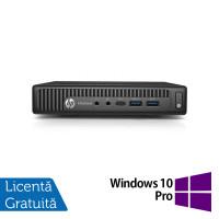 Calculator HP Elitedesk 800 G2 Mini PC, Intel Core i3-6100 3.70GHz, 4GB DDR4, 500GB SATA + Windows 10 Pro