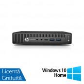 Calculator HP Prodesk 600 G2 Mini PC, Intel Core i5-6500T 2.50GHz, 4GB DDR3, 120GB SSD + Windows 10 Home, Refurbished Calculatoare Refurbished