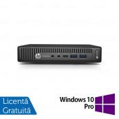 Calculator HP Prodesk 600 G2 Mini PC, Intel Core i5-6500T 2.50GHz, 4GB DDR3, 120GB SSD + Windows 10 Pro, Refurbished Calculatoare Refurbished