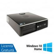 Calculator Refurbished HP 8200 Elite SFF, Intel Core i5-2400 3.10GHz, 4GB DDR3, 250GB SATA, DVD-ROM, Port Serial, Display Port + Windows 10 Home Calculatoare Refurbished