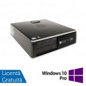 Calculator Refurbished HP 8200 Elite SFF, Intel Core i5-2400 3.10GHz, 4GB DDR3, 250GB SATA, DVD-ROM, Port Serial, Display Port + Windows 10 Pro Calculatoare Refurbished