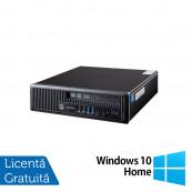 Calculator HP EliteDesk 800 G1 USDT, Intel i5-4570s 2.90GHz, 4GB DDR3, 500GB SATA + Windows 10 Home, Refurbished Calculatoare Refurbished
