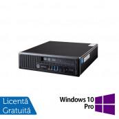 Calculator HP EliteDesk 800 G1 USDT, Intel i5-4570s 2.90GHz, 4GB DDR3, 500GB SATA + Windows 10 Pro, Refurbished Calculatoare Refurbished