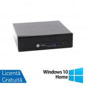 Calculator HP EliteDesk 800 G1 USDT, Intel i5-4590s 3.00GHz, 4GB DDR3, 320GB SATA + Windows 10 Home, Refurbished Calculatoare Refurbished