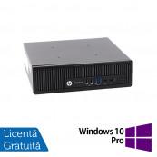 Calculator HP EliteDesk 800 G1 USDT, Intel i5-4590s 3.00GHz, 4GB DDR3, 320GB SATA + Windows 10 Pro, Refurbished Calculatoare Refurbished