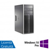 Calculator HP 8200 Tower, Intel Core i3-2100 3.10GHz, 4GB DDR3, 250GB SATA, DVD-ROM + Windows 10 Pro Calculatoare Refurbished