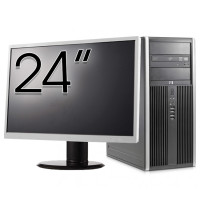 Pachet Calculator HP 8200 Tower, Intel Core i5-2400 3.10GHz, 8GB DDR3, 120GB SSD, DVD-ROM + Monitor 24 Inch (Top Sale!)