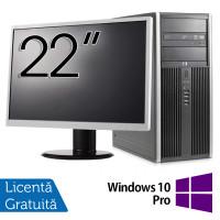 Pachet Calculator HP 8200 Tower, Intel Core i5-2400 3.10GHz, 8GB DDR3, 500GB SATA, GeForce GT210 512MB DDR3, DVD-ROM + Monitor 22 Inch + Windows 10 Pro (Top Sale!)
