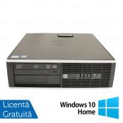 Calculator HP 8200 Elite SFF, Intel Core i3-2100 3.10GHz, 8GB DDR3, 500GB SATA, DVD-ROM, Port Serial, Display Port + Windows 10 Home, Refurbished Calculatoare Refurbished