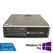 Calculator HP 8200 Elite SFF, Intel Core i3-2100 3.10GHz, 8GB DDR3, 500GB SATA, DVD-ROM, Port Serial, Display Port + Windows 10 Pro, Refurbished Calculatoare Refurbished