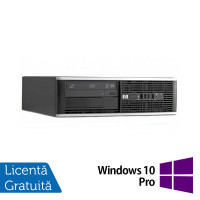 Calculator HP 8300 Elite SFF, Intel Pentium G640 2.80GHz, 4GB DDR3, 250GB SATA, DVD-RW + Windows 10 Pro