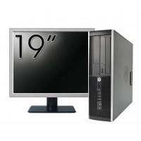 Pachet Calculator HP Compaq Elite 8300 SFF, Intel Core i7-3770 3.40GHz, 4GB DDR3, 500GB SATA, DVD-RW + Monitor 19 Inch