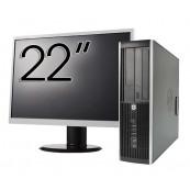 Pachet Calculator HP Compaq Elite 8300 SFF, Intel Core i7-3770 3.40GHz, 4GB DDR3, 500GB SATA, DVD-RW + Monitor 22 Inch, Second Hand Oferte Pachete IT
