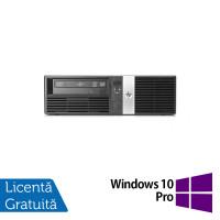 Calculator HP RP5800 SFF, Intel Core i3-2120 3.30GHz, 4GB DDR3, 250GB SATA, DVD-ROM, 2 Porturi Com + Windows 10 Pro