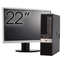 Calculator HP RP5800 SFF, Intel Core i3-2120 3.30GHz, 8GB DDR3, 250GB SATA, Radeon HD7470 1GB DDR3, DVD-ROM, 2 Porturi Serial + Monitor 22 Inch