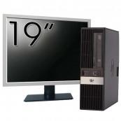 Pachet Calculator HP RP5800 SFF, Intel Core i3-2100 3.10GHz, 4GB DDR3, 500GB SATA, DVD-RW + Monitor 19 Inch, Second Hand Oferte Pachete IT