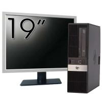 Pachet Calculator HP RP5800 SFF, Intel Core i3-2100 3.10GHz, 4GB DDR3, 500GB SATA, DVD-RW + Monitor 19 Inch