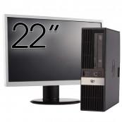 Pachet Calculator HP RP5800 SFF, Intel Core i3-2100 3.10GHz, 4GB DDR3, 500GB SATA, DVD-RW + Monitor 22 Inch, Second Hand Oferte Pachete IT