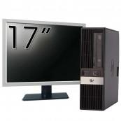 Calculator HP RP5800 SFF, Intel Core i3-2120 3.30GHz, 4GB DDR3, 250GB SATA, DVD-ROM, 2 Porturi Serial + Monitor 17 Inch, Second Hand Calculatoare Second Hand