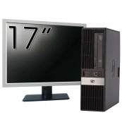 Calculator HP RP5800 SFF, Intel Core i5-2400 3.10GHz, 4GB DDR3, 250GB SATA, DVD-ROM, 2 Porturi Com + Monitor 17 Inch, Second Hand Intel Core  i5