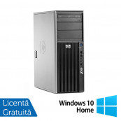 WorkStation Refurbished HP Z400, Intel Xeon Quad Core E5620, 2.40GHz, 4GB DDR3 ECC, 500GB SATA, AMD Radeon HD8490/1GB, DVD-RW + Windows 10 Home Workstation