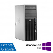 WorkStation Refurbished HP Z400, Intel Xeon Quad Core E5620, 2.40GHz, 4GB DDR3 ECC, 500GB SATA, AMD Radeon HD8490/1GB, DVD-RW + Windows 10 Pro Workstation