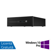 Calculator HP EliteDesk 800 G1 SFF, Intel Core i3-4130 3.40GHz, 4GB DDR3, 500GB SATA + Windows 10 Pro