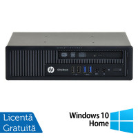Calculator HP EliteDesk 800 G1 USDT, Intel Core i3-4360 3.40GHz, 4GB DDR3, 320GB SATA, DVD-RW + Windows 10 Home