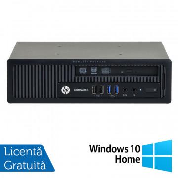 Calculator HP EliteDesk 800 G1 USDT, Intel Core i3-4360 3.40GHz, 4GB DDR3, 320GB SATA, DVD-RW + Windows 10 Home, Refurbished Calculatoare Refurbished