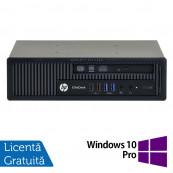 Calculator HP EliteDesk 800 G1 USDT, Intel Core i3-4360 3.40GHz, 4GB DDR3, 500GB SATA, DVD-RW + Windows 10 Pro, Refurbished Calculatoare Refurbished