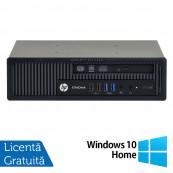 Calculator HP EliteDesk 800 G1 USDT, Intel Core i7-4770S 3.10GHz, 4GB DDR3, 500GB SATA + Windows 10 Home, Refurbished Calculatoare Refurbished