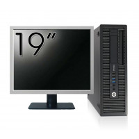 Pachet Calculator HP EliteDesk 800 G1 SFF, Intel Core i5-4570 3.20GHz, 4GB DDR3, 500GB SATA, DVD-RW + Monitor 19 Inch